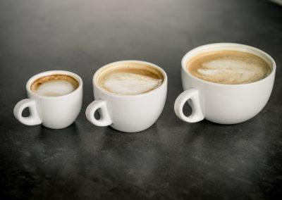 Espresso macchiato, cappuccino, latte
